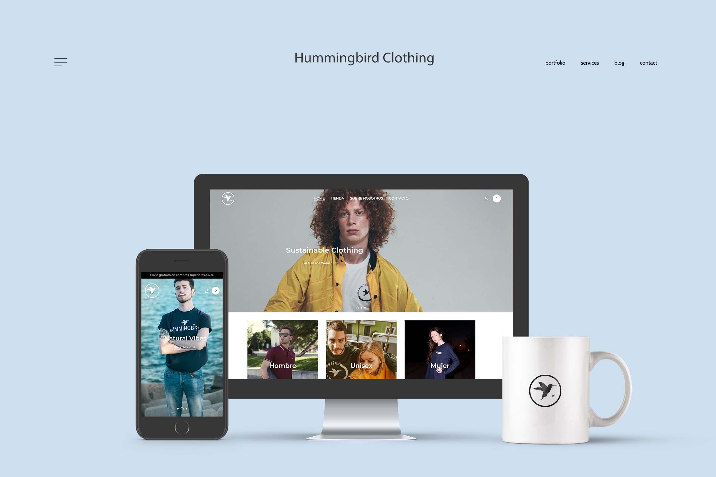 Webiste Hummingbird Clothing