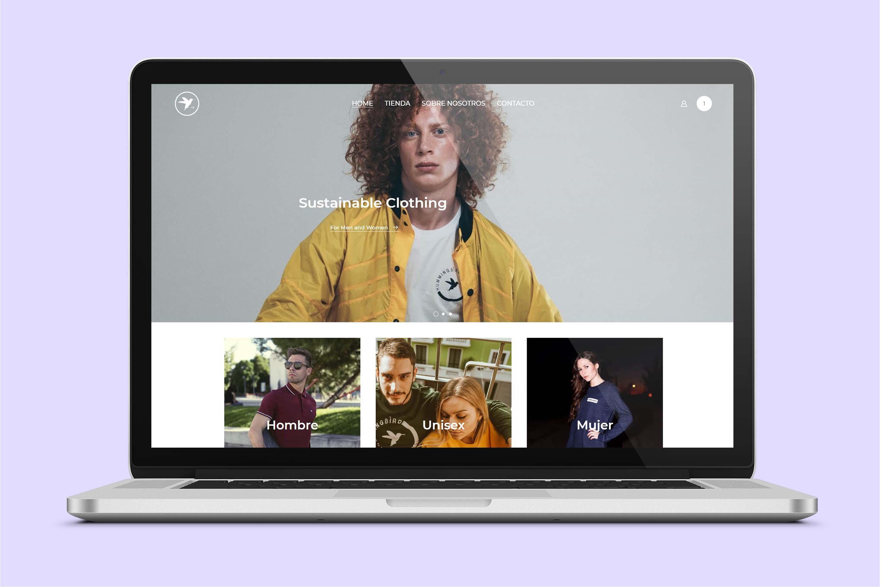 Portfolio Hummingbird website