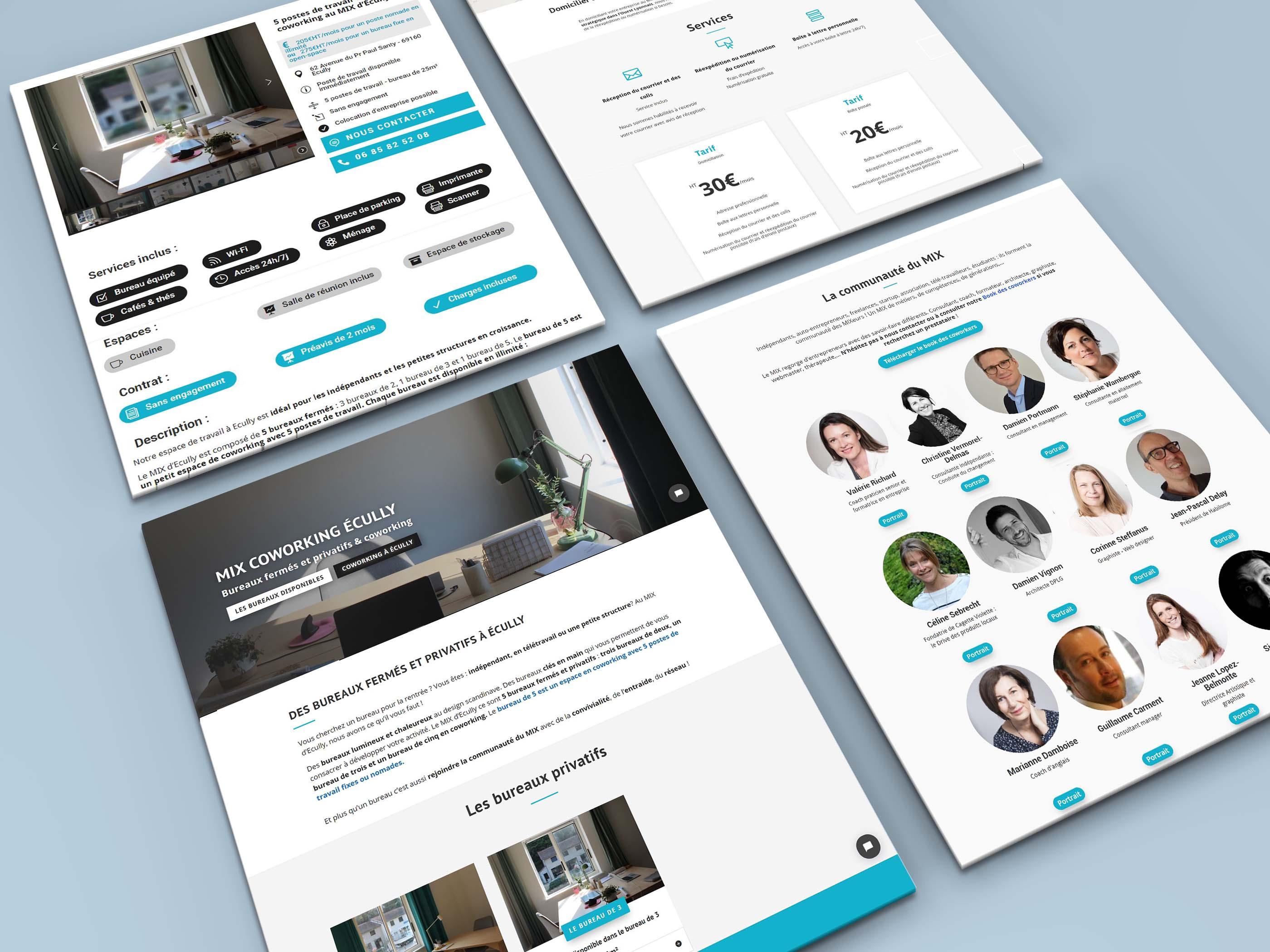 Website portfolio MIX Coworking