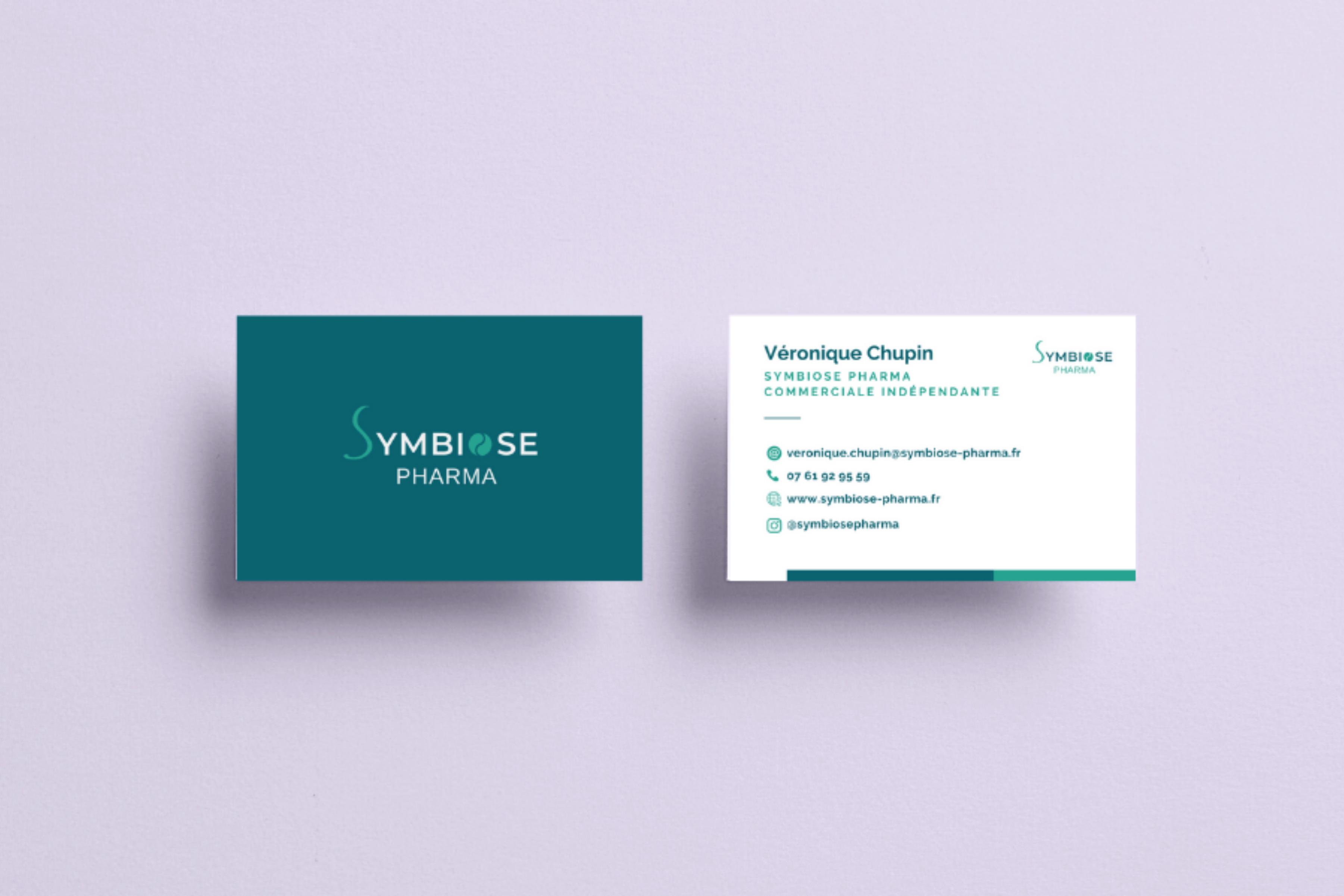 Création identité visuelle symbiose pharma